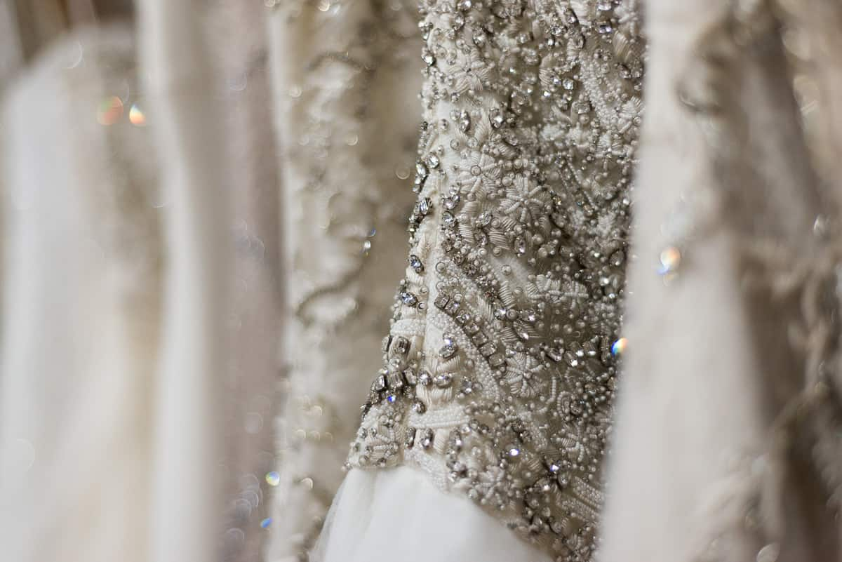 sequen and embellished bridal gowns at The Bridal Finery designer dress boutique