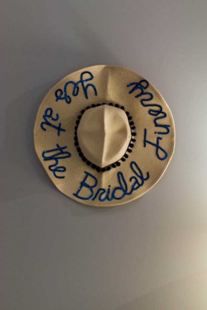 i said yes at The Bridal Finery embroidered sunhat