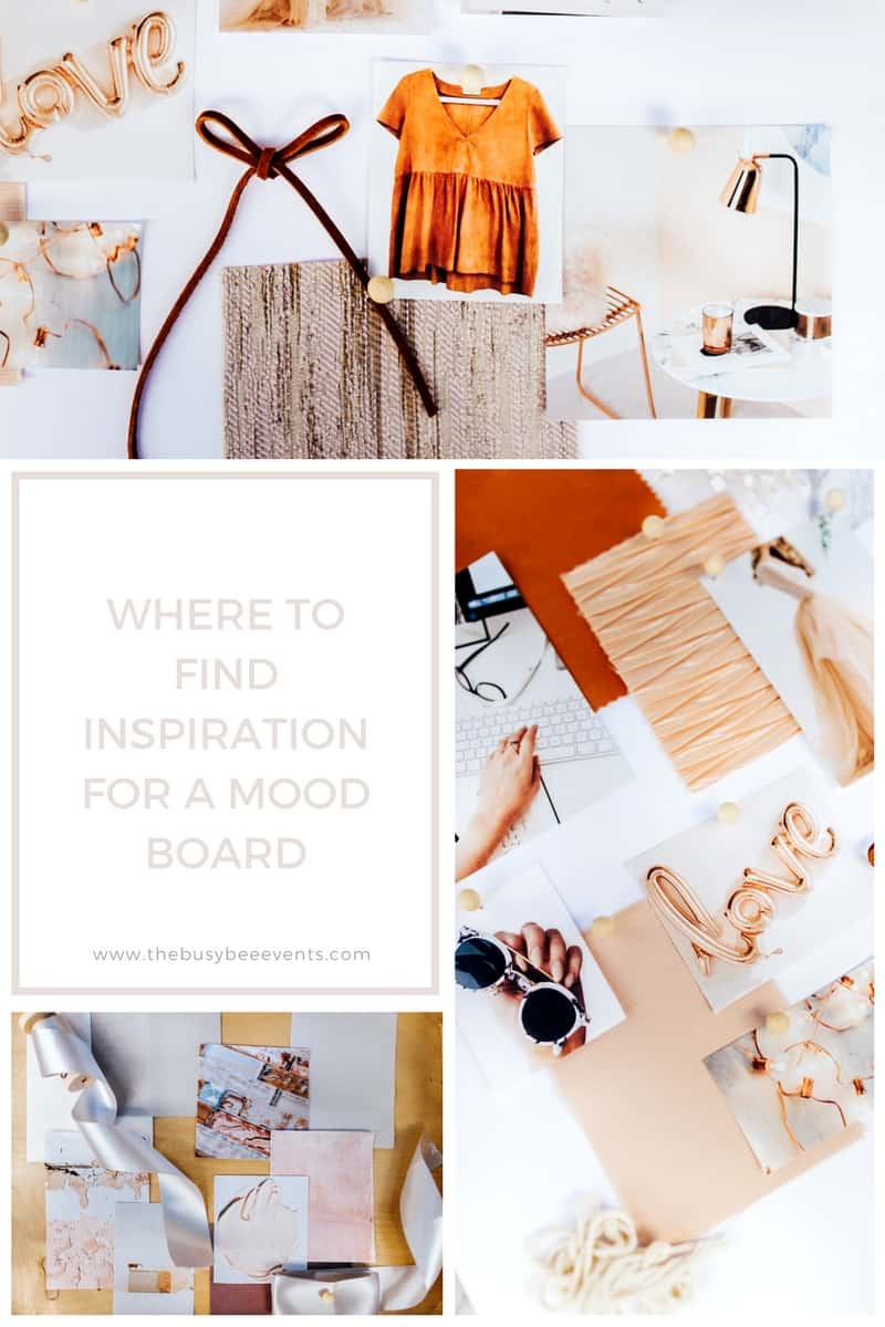 Find Board where to find inspiration for a mood board - the busy bee