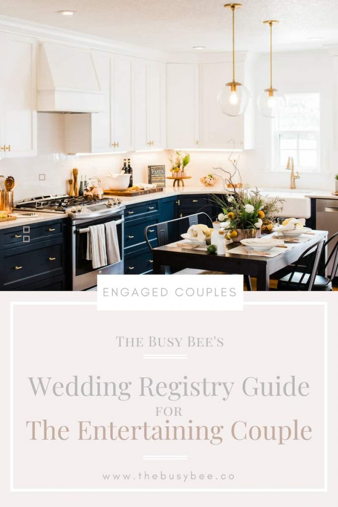 The Busy Bee's Wedding Registry Guide for The Entertaining Couple cover page