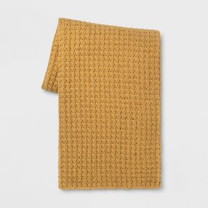 mustard throw blanket from Target