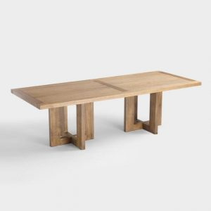 large wood ash ruby dining table seats 10