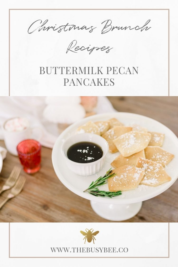 Buttermilk Pecan Pancakes; Hearth & Hand Target House Cookie Cutters; Pancakes