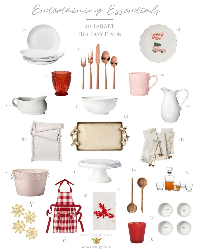 Entertaining Essentails Collage including 20 Target Holiday Finds