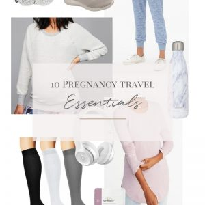 image of 10 pregnancy travel essentials