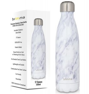 stainless steel marble water bottle