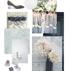 blue slate grey wedding mood board