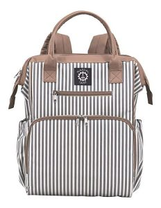 Rascal Gear Striped Baby Diaper Bag Backpack