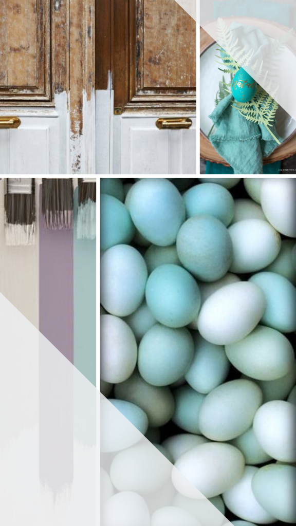 easter inspiration mood board