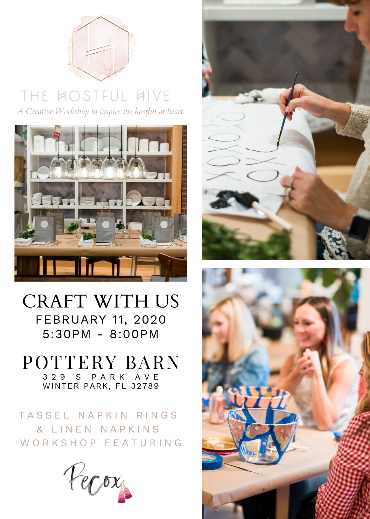 crafting workshop in orlando, pottery barn winter park