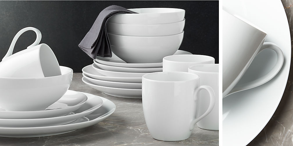 Crate and Barrel Essential Dinnerware - The Busy Bee