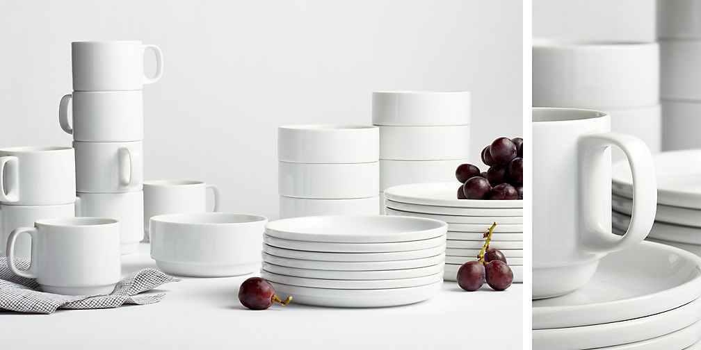 Crate and Barrel Logan Stacking Dinnerware - The Busy Bee
