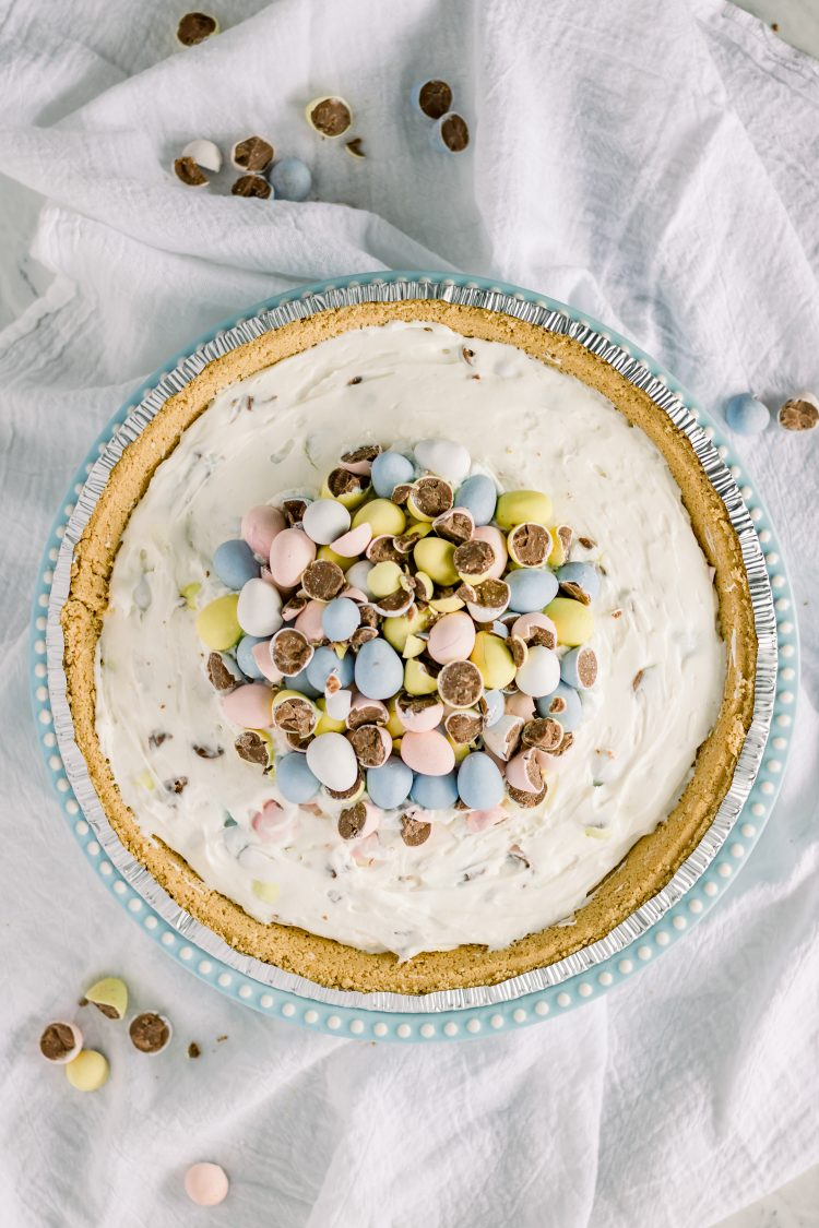 milk chocolate candy easter cheesecake