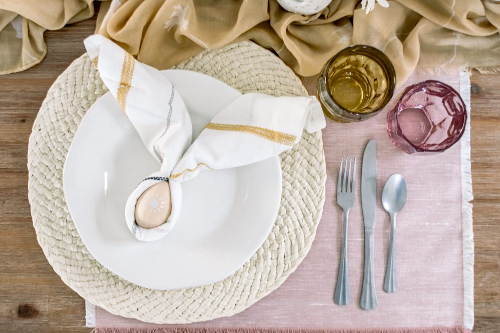Cross Dyed Rose Gold Placemats at Target