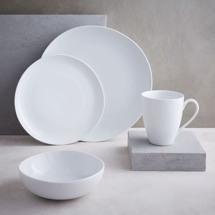 West Elm Organic Shaped Porcelain Dinnerware Set - The Busy Bee