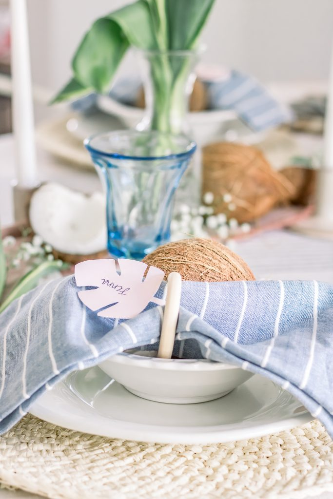coconut summer tablescape