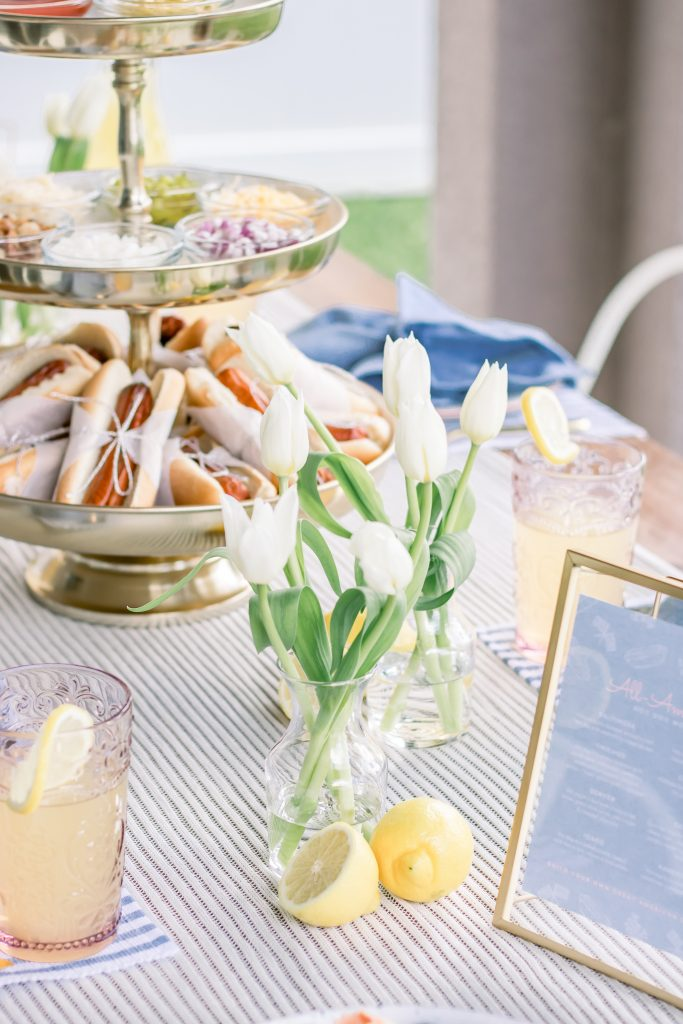 An outdoor Fourth of July Dinner Party
