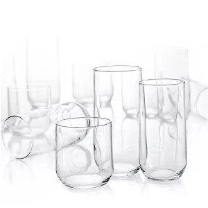 assortment of modern glassware