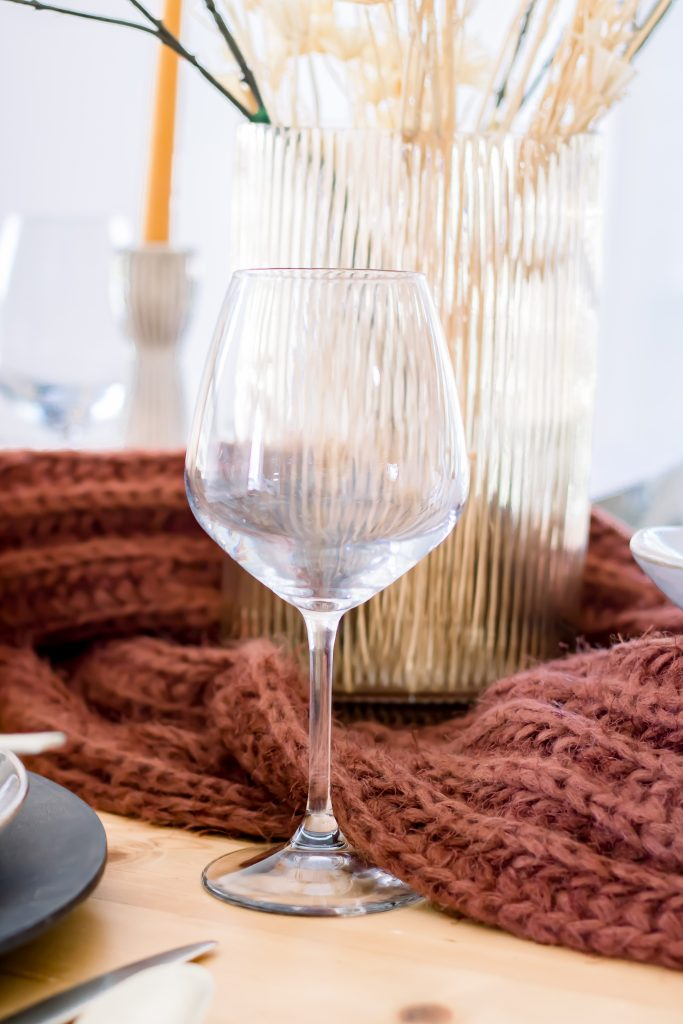 wide long stemmed wine glass