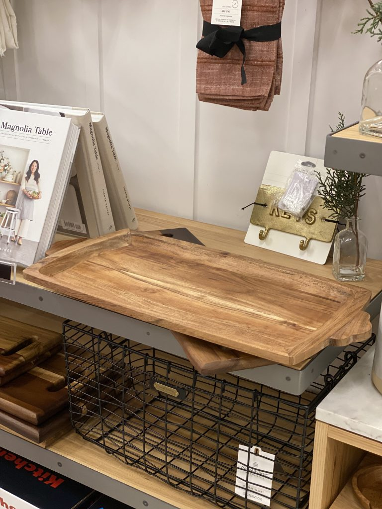 wooden serving tray Hearth and Hand