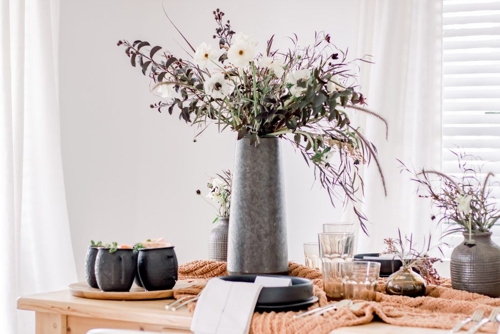 sophisticated halloween tablescape