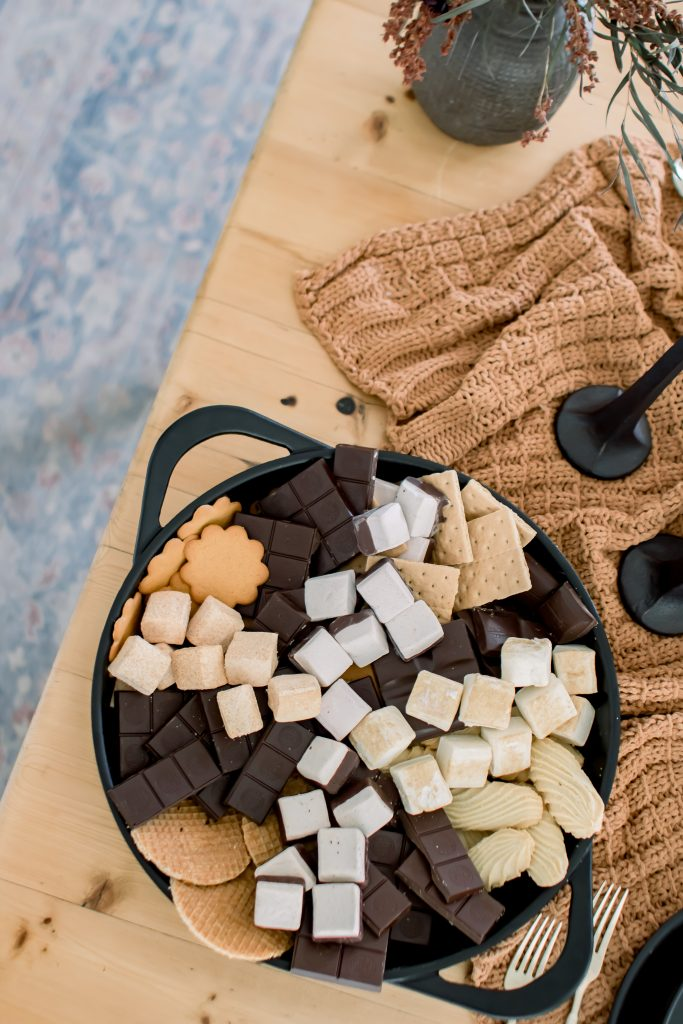halloween gourmet s'mores tray
