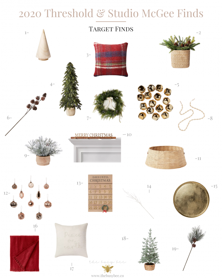 2020 Threshold and Studio McGee Christmas Finds