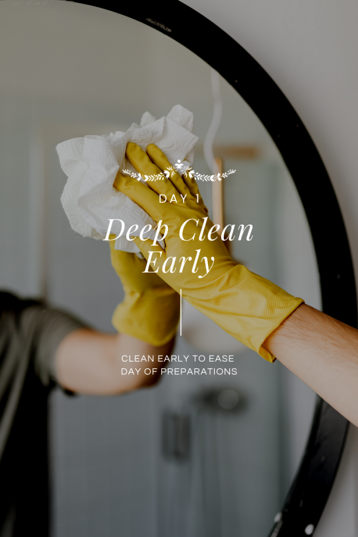 Day 1 of 12 Days of Holiday #HostfulHacks: Deep Cleaning Early
