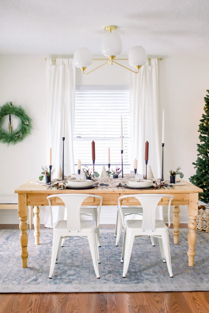 Sophisticated Christmas Tablescape