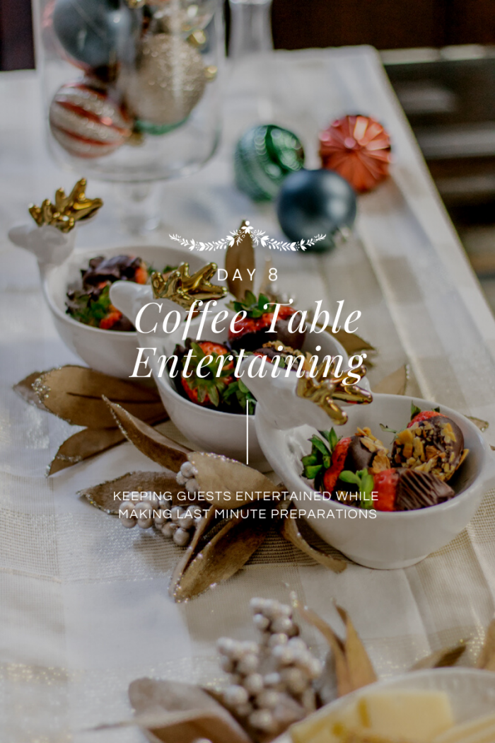 Day 8 of 12 Days of Holiday #HostfulHacks: Coffee Table Entertaining with Fern & Maple