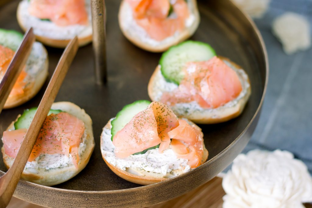 Smoked Salmon and Cream Cheese Canapes