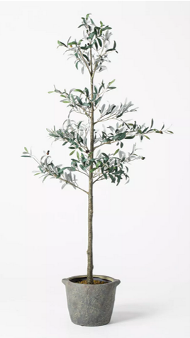 Threshold designed with Studio McGee Artificial Sparse Olive Tree - THE BUSY BEE