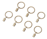 Warm gold curtain clip rings