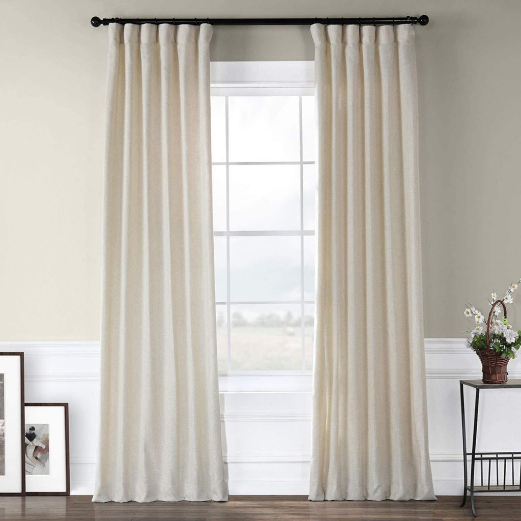 Barley faux linen curtains