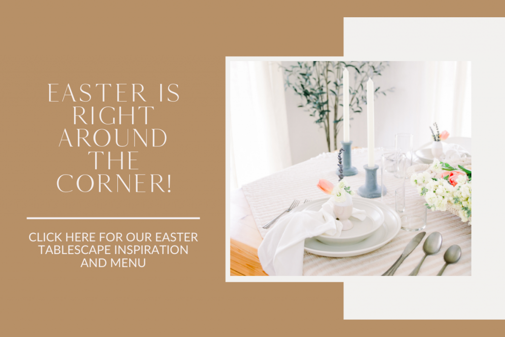 Simple and neutral Easter tablescape inspiration advertisement