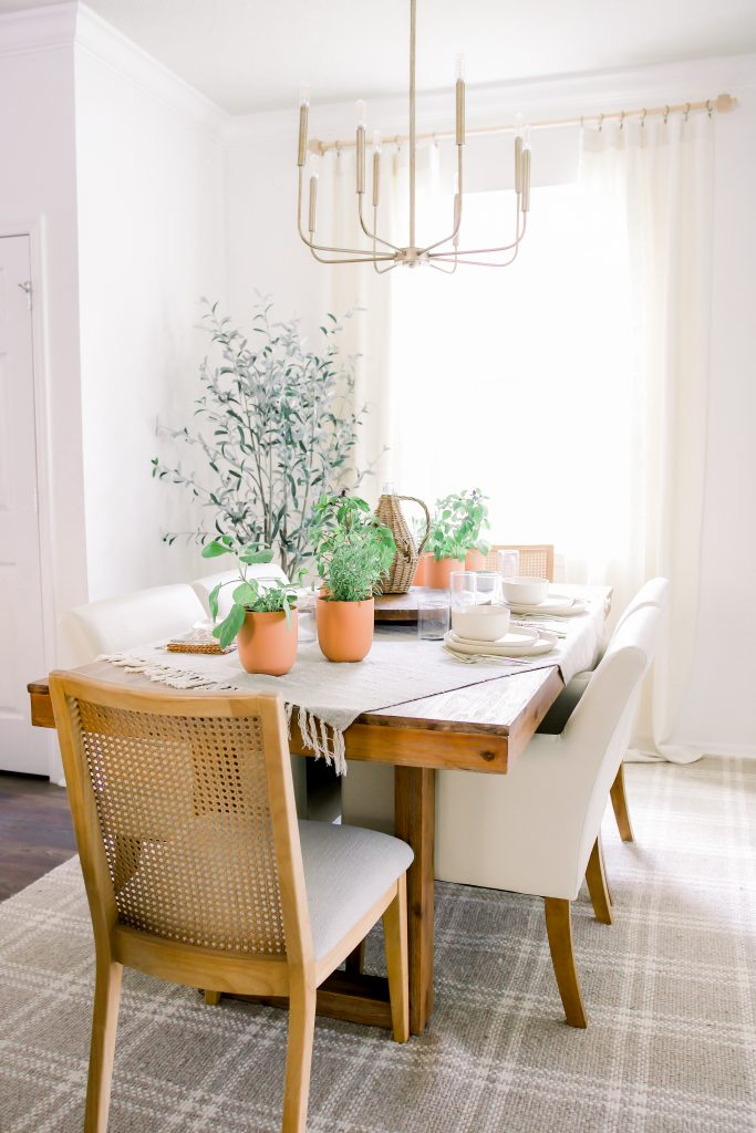 A simple and thoughtful spring tablescape has the ability to draw people in.