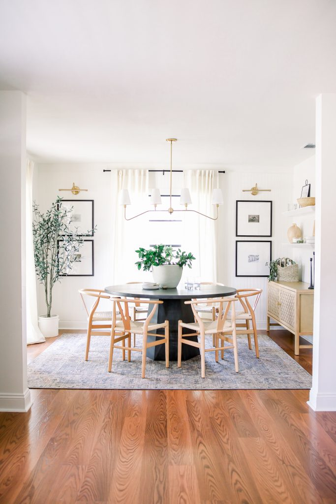 warm and welcoming dining room