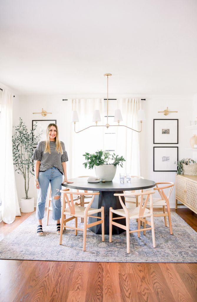 transitional dining room featuring charcoal dining room table