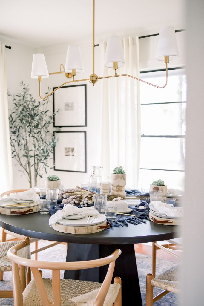 dining room table set with dining entertaining essentials
