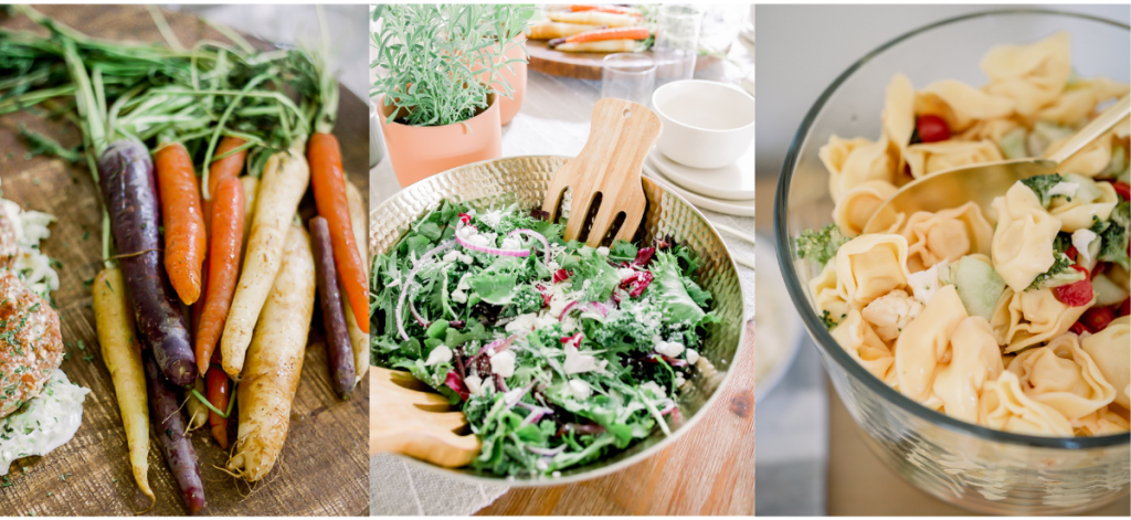 various recipes that add color to a tablescape