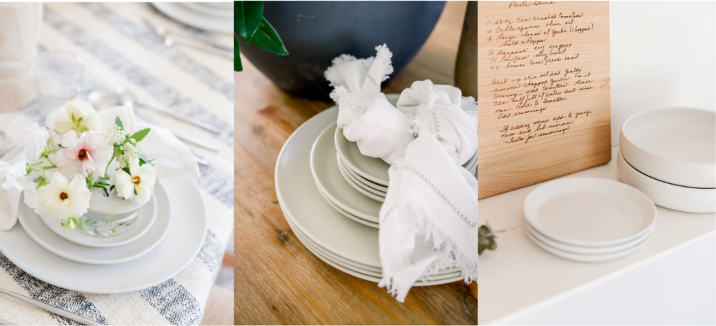 neutral dinnerware as entertaining items you need