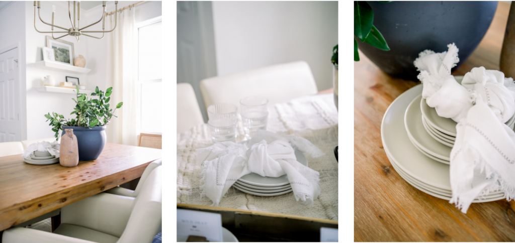 every day dinner napkin styling